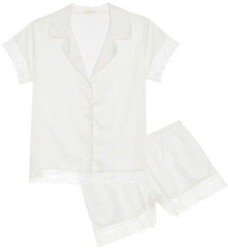 Eberjey One & Only 2-Piece Satin Pajama Set