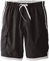 Burnside Men's Impersonator Elastic Waist Swim Trunk