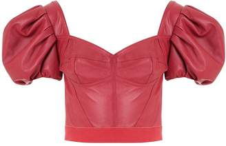 Andrea Bogosian Pantoja leather cropped top