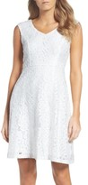 Ellen Tracy Women's Lace Fit & Flare Dress