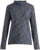 A.P.C. High-neck space-dye cotton-jersey top