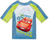 Disney Boys Cars Solid Rash Guard-Big Kid