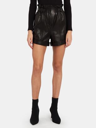 IRO Fujika High Rise Leather Shorts