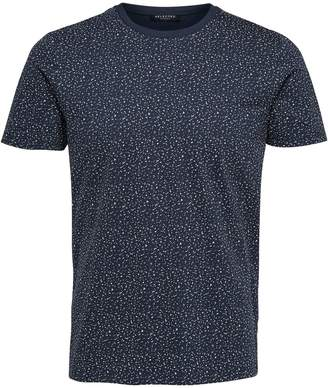 Selected Short Sleeve Printed Crew Neck Tee