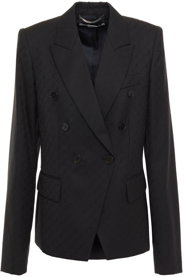 Stella McCartney Double-breasted Wool-jacquard Blazer