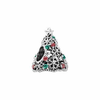 Pandora Sparkling Christmas Tree Charm Sterling Silver 11.4 x 14.6 x 12.5 mm (D/H/W)