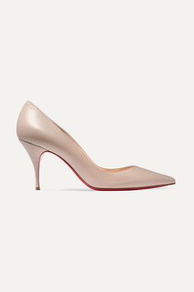 Christian Louboutin Clare 80 Leather Pumps - Beige
