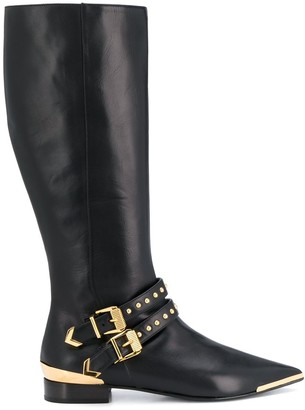 Versace Aurene knee-high boots