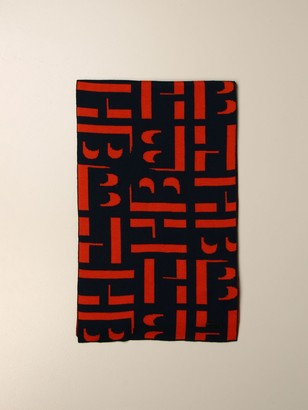 HUGO BOSS Scarf With All Over Logo