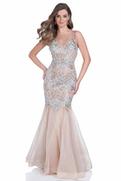 Terani Couture Stunning Jeweled Bodice Mermaid Gown 1611P0705