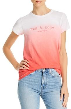 Rag & Bone Dip-Dye Logo Tee - 100% Exclusive