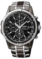 Seiko Mens Silvertone Chronograph Watch