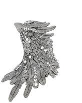 Lanvin crystal-embellished bird brooch