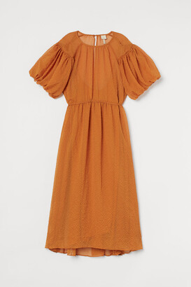 H&M Wide-cut Dress - Orange
