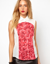 Lavish Alice Shirt In Rose Print