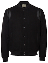 Selected Homme Adam Varsity Bomber Jacket, Black