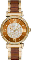 Michael Kors MK3411 Catlin gold-plated stainless steel watch