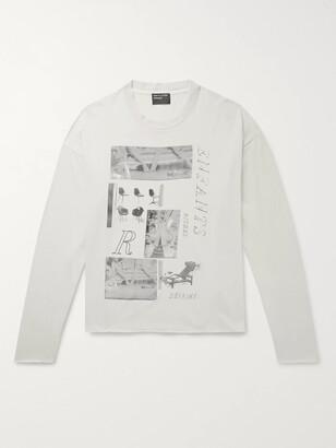 Enfants Riches Deprimes Oversized Printed Cotton-Jersey T-Shirt - Men - Neutrals