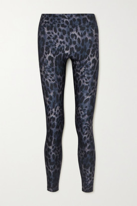 Koral Drive Cheetara Leopard-print Stretch Leggings - Blue