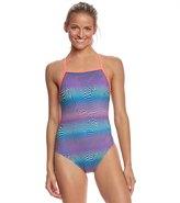 Speedo Flipturns Women's Play Daze Propel Back One Piece Swimsuit 8155579