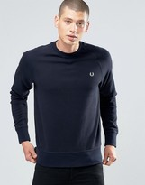Fred Perry Sweatshirt With Raglan Sleeves In Navy