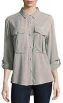 Calvin Klein Jeans Hi-Lo Long Sleeve Shirt