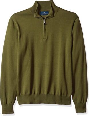 Buttoned Down Supima Cotton Quarter-zip Sweater Dark Grey US M (EU M)