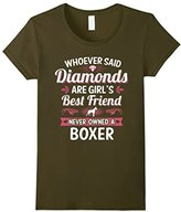 Women's Boxer Dog Best Friends Clothing Puppy Puppies T Shirt Tee Small