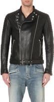 Balmain Ribbed leather jacket