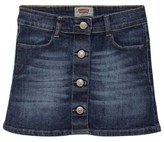 Levi's Mid Wash A-Line Button Front Skirt