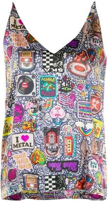 Ultràchic Glam Rock Print tank top