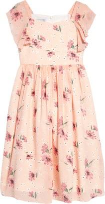 Pippa & Julie Floral Flutter Sleeve Dress