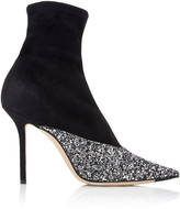 Jimmy Choo Moda Exclusive Brionna Glitter Suede Ankle Boots