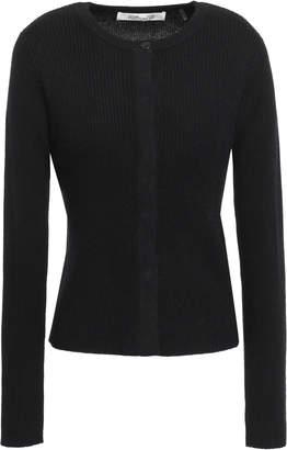 Diane von Furstenberg Shayda Ribbed Wool And Cashmere-blend Cardigan