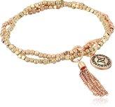 """BCBGeneration Gold and Rose Gold Nugget Bracelet, 7"""""""