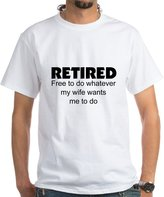 CafePress - Retired T-Shirt - Unisex Crew Neck 100% Cotton T-Shirt, Comfortable and Soft Classic Tee with Unique Design