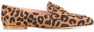 Stuart Weitzman Leopard Print Loafers
