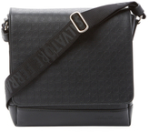Salvatore Ferragamo Gamma Gancio Embossed Leather Messenger