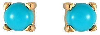 Ivy Gems 9ct Yellow Gold Turquoise 5mm Round Stud Earrings