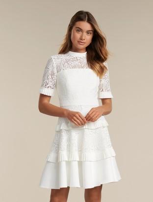 Forever New Raine Spliced Panel Prom Dress - Porcelain - 14