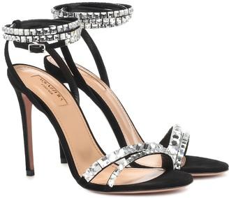 Aquazzura So Vera 105 suede sandals