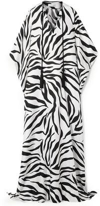 Oscar de la Renta Oversized Zebra-print Silk Kaftan