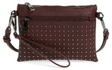 Sole Society Anita Studded Faux Leather Crossbody Bag - Purple