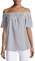 Vince Camuto Short-Sleeve Off-the-Shoulder Striped Top