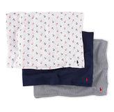 Ralph Lauren Boy Crepe Swaddling Blanket Set