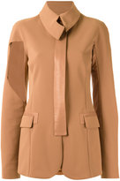 Gloria Coelho - panelled blazer - women - Elastodiene/Polyamide - 44