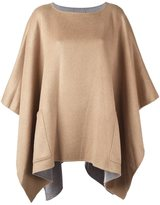 MICHAEL Michael Kors front pocket poncho - women - Cotton/Acrylic/Polyamide/Wool - S