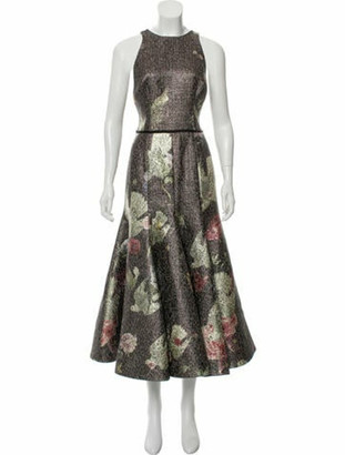 Sandra Mansour Soleil Midi Dress w/ Tags chartreuse