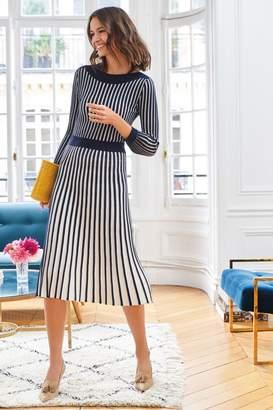 Boden Womens Rita Knitted Dress - Blue