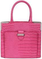 Snob Essentials Treasure Embossed Faux Leather Satchel